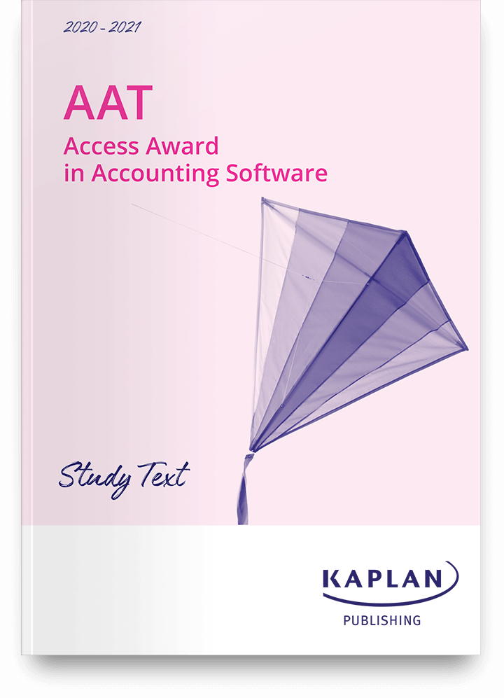 Study text - AAT - Access Award in Accounting Software