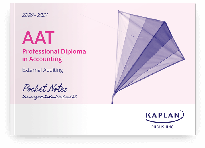 AAT Professional Diploma in Accounting - External Auditing (ETAU) - Pocket Notes