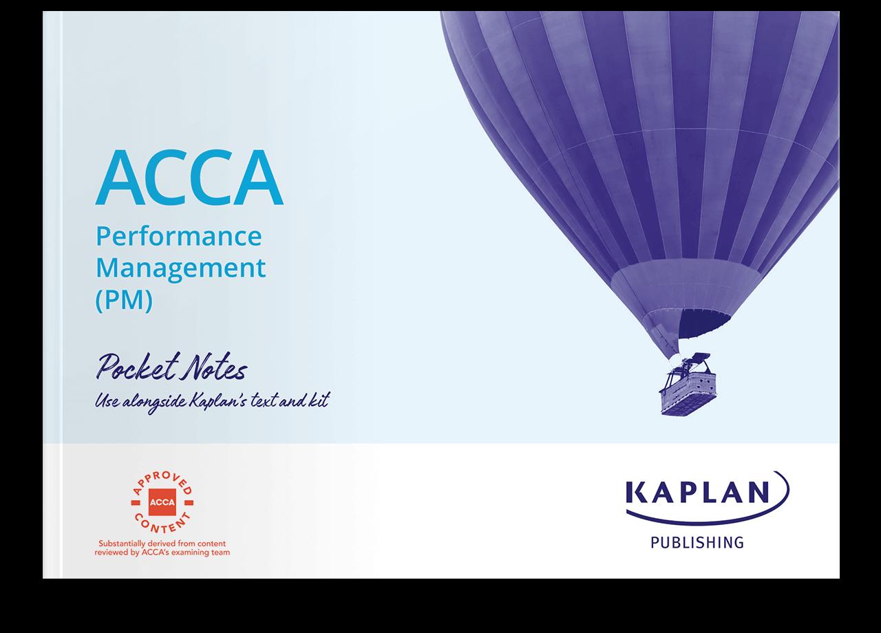 ACCA Fundamentals - Performance Management (PM) - Pocket Notes