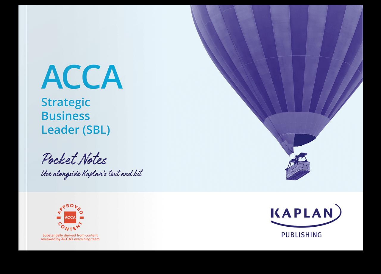 ACCA Strategic Business Leader (SBL) Pocket Notes